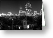 High Dynamic Range Greeting Cards - Boston After Dark Greeting Card by Andrew Kubica