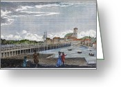 Charlestown Greeting Cards - Boston: Charles River, 1789 Greeting Card by Granger