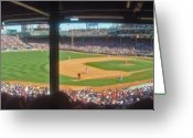 Night At The Ballpark Greeting Cards - Boston Fenway Park Greeting Card by Juergen Roth