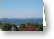 Hull Ma Greeting Cards - Boston Harbor from Hull Greeting Card by Barbara McDevitt