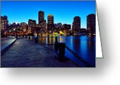 Chains Greeting Cards - Boston Harbor Walk Greeting Card by Rick Berk