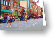 Athletes Greeting Cards - Boston Marathon Mile Twenty Two Greeting Card by Barbara McDevitt