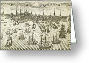Paul Revere Greeting Cards - Boston: Revere Plan, 1774 Greeting Card by Granger