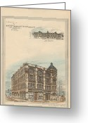 Terra Greeting Cards - Boston Terra Cotta Building Boston MA 1883 Greeting Card by William Preston
