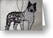 Boston Sculpture Greeting Cards - Boston terrier Greeting Card by Charlene White