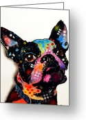Dog Portrait Greeting Cards - Boston Terrier II Greeting Card by Dean Russo