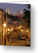 Charlestown Greeting Cards - Boston View from Charlestown Greeting Card by Juergen Roth