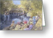 Costumes Painting Greeting Cards - Botanic Gardens - Southport Greeting Card by Peter Miller