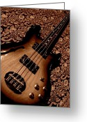 Throw Photo Greeting Cards - Botanical Bass Greeting Card by Chris Berry
