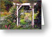 Britain Painting Greeting Cards - Botanical Paradise Greeting Card by David Lloyd Glover