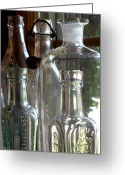Clear Glass Greeting Cards - Bottle Necks Greeting Card by Richard Mansfield