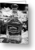 Jack Daniels Greeting Cards - bottle of single barrel tennessee whiskey at jack daniels distillery Lynchburg tennessee usa Greeting Card by Joe Fox