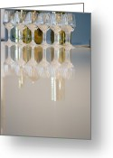 Kitchen Ware Greeting Cards - Bottle of Wine and Glasses on Counter Greeting Card by Shannon Fagan
