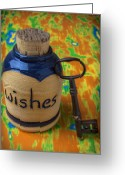 Aspiration Greeting Cards - Bottle of wishes Greeting Card by Garry Gay