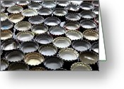 Bottle Cap Photo Greeting Cards - Bottlecaps Greeting Card by Shana Novak