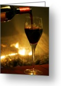 Fireplace Greeting Cards - Bottled Poetry Greeting Card by Mitch Cat