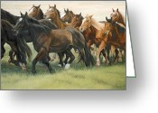Rodeo Greeting Cards - Bottleneck Greeting Card by JQ Licensing