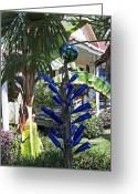 Banana Tree Greeting Cards - Bottles Bangles and Beads Greeting Card by Cheri Randolph