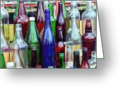 Flea Greeting Cards - Bottles For Sale Greeting Card by Karol  Livote