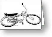 Banana Drawings Greeting Cards - Bottom Up Bike Greeting Card by Karl Addison