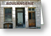 Antiquated Greeting Cards - Boulangerie Greeting Card by Georgia Fowler
