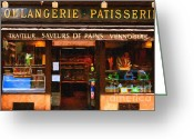 Impressionist Art Greeting Cards - Boulangerie Patisserie . Bread and Pastry Shop Greeting Card by Wingsdomain Art and Photography