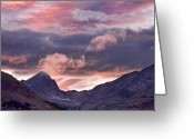 The Lightning Man Greeting Cards - Boulder County Colorado Indian Peaks at Sunset Greeting Card by James Bo Insogna