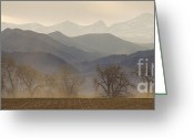 Farm Fields Greeting Cards - Boulder County Colorado Layers Panorama Greeting Card by James Bo Insogna