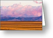 Colorado Photographers Greeting Cards - Boulder County Farm Fields At First Light Sunrise Greeting Card by James Bo Insogna