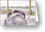 New York City Painting Greeting Cards - Boulder Greeting Card by Linda Berkowitz