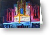 Royal Gamut Art Greeting Cards - Boulder Theater Greeting Card by Tom Roderick