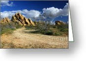 Mojave Greeting Cards - Boulders At Apple Valley Greeting Card by James Eddy