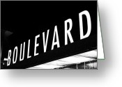 Brewing Greeting Cards - Boulevard Lights Up The Night Greeting Card by Angie Rayfield
