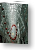 Life In The City Greeting Cards - Bouncing Red Balls Greeting Card by Alfred Ng
