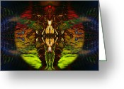 Transcend Greeting Cards - Bound By Desire Greeting Card by David Kleinsasser