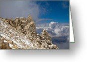 Rock Formations Greeting Cards - Boundary Peak Nevada Greeting Card by TB Sojka