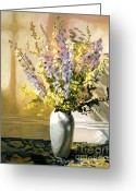 Bouquets Greeting Cards - Bouquet Impressions Greeting Card by David Lloyd Glover