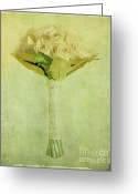 Bouquet Of Roses Greeting Cards - Bouquet Greeting Card by Linde Townsend