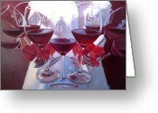 Wine Cellar Greeting Cards - Bouquet of Cabernet Greeting Card by Penelope Moore