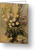 Realistic Greeting Cards - Bouquet Greeting Card by Tigran Ghulyan