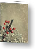 Vintage Photographs Greeting Cards - Bouquetterie Greeting Card by Aimelle