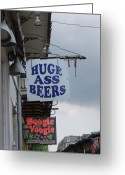 Ass Greeting Cards - Bourbon Street Signs Greeting Card by Lauri Novak