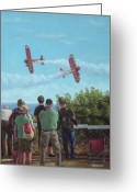 Bi Plane Greeting Cards - Bournemouth air festival Greeting Card by Martin Davey