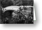 Central Park Photo Greeting Cards - Bow Bridge in Central Park Greeting Card by Christopher Kirby