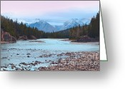 Winter Photos Greeting Cards - Bow Sunset Greeting Card by Andrea Hazel Ihlefeld