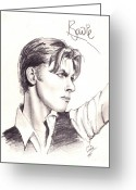 1984 Greeting Cards - Bowie Greeting Card by Cristopher