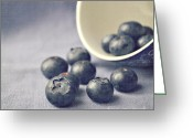 Indoors Home Greeting Cards - Bowl of Blueberries Greeting Card by Lyn Randle