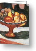 Figs Greeting Cards - Bowl of Passion Greeting Card by Helena Bebirian
