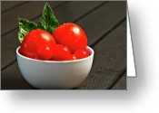 Delicious Greeting Cards - Bowl of Thomatoes Greeting Card by Gert Lavsen