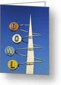Vintage Signs Greeting Cards - Bowl Sign Greeting Card by Matthew Bamberg